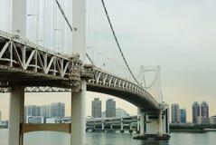 东京 Odaiba海岛 彩虹桥 免版税库存照片