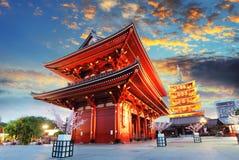 东京- Sensoji籍,寺庙在浅草,日本 库存照片
