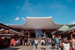 东京- Sensoji籍,寺庙 库存图片