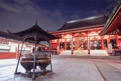 东京Sensoji asakusa寺庙 库存照片