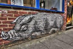 东伦敦街道画 免版税库存照片