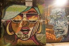 东伦敦街道画 库存照片