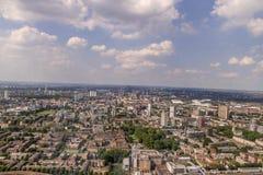 东伦敦鸟瞰图 免版税库存图片