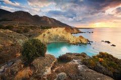 东克利特,希腊海岸。 免版税库存照片
