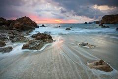 东克利特,希腊海岸。 库存图片