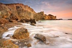 东克利特,希腊海岸。 免版税图库摄影