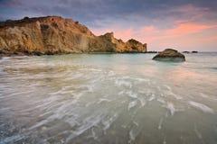 东克利特,希腊海岸  库存图片