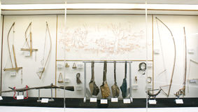东北镇印度tribals传统武器  免版税库存图片