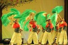 东北yangko舞蹈2011舞蹈课毕业音乐会党 图库摄影