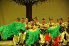 东北yangko舞蹈2011舞蹈课毕业音乐会党 免版税库存图片