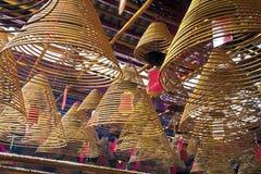 东华三院文武庙,著名道士寺庙在香港 库存图片