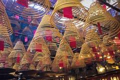 东华三院文武庙,著名道士寺庙在香港 免版税库存图片