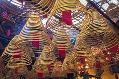 东华三院文武庙,著名道士寺庙在香港 免版税库存照片