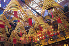 东华三院文武庙,著名道士寺庙在香港 库存照片