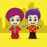 东南亚国家联盟新加坡动画片 库存照片