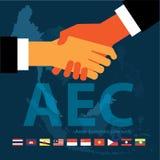 东南亚国家联盟经济公共(AEC) eps10格式 免版税库存图片