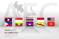 东南亚国家联盟经济共同体(AEC) 免版税图库摄影