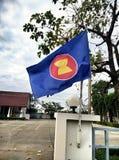 东南亚国家联盟经济社区旗子  免版税库存照片