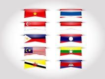 东南亚国家联盟AEC Lable例证和背景 皇族释放例证