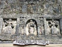 东南亚殖民地海岛废墟 免版税库存图片