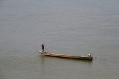 东南亚渔夫 库存照片