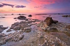 东南克利特,希腊海岸。 库存照片