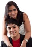 东印度人母亲和儿子 免版税库存图片