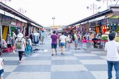 东大门夜市场在花莲市,台湾 免版税库存图片