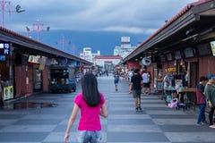 东大门夜市场在花莲市,台湾 库存图片