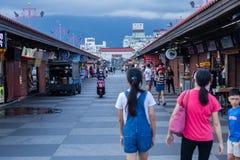 东大门夜市场在花莲市,台湾 库存照片