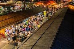 东大门夜市场在花莲市,台湾 免版税图库摄影