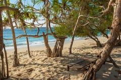 东帝汶白色沙子海滩 库存图片