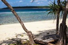 东帝汶白色沙子海滩 免版税库存图片