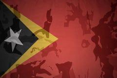 东帝汶的旗子卡其色的纹理的 装甲攻击机体关闭概念标志绿色m4a1军用步枪s射击了数据条工作室作战u 库存图片