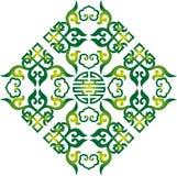 东方中国装饰品亚洲传统样式花卉葡萄酒元素削减了剪影装饰品中亚补花 免版税库存照片