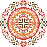 东方中国装饰品亚洲传统样式花卉葡萄酒元素削减了剪影装饰品中亚补花 图库摄影
