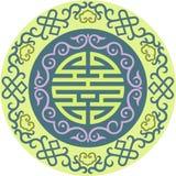 东方中国装饰品亚洲传统样式花卉葡萄酒元素削减了剪影装饰品中亚补花 免版税图库摄影