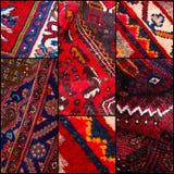 东方人地毯背景集合拼贴画 库存图片