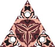 东方传统莲花三角样式 库存照片