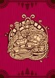 东方咖啡菜单盖子 库存图片