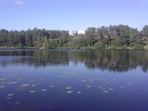 从东方国家的Nature湖 免版税库存图片