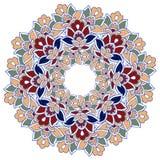 东方坛场 印地安人,波斯圆的装饰品 东部坛场蓝色和红色 皇族释放例证