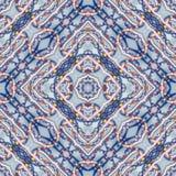 东方拼贴画背景,与明亮的小珠的无缝的五颜六色的样式剪贴薄的 坐垫的,毯子,枕头万花筒, 库存照片