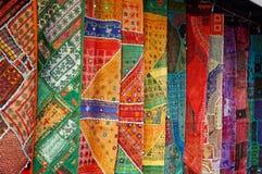 东方收集的织品 库存图片
