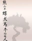 东方文字 库存照片