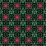 东方无缝的样式锦缎蔓藤花纹和花卉元素t 免版税库存图片