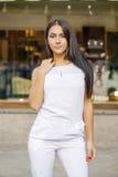 东方样式 肉欲的阿拉伯妇女模型 库存图片