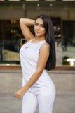 东方样式 肉欲的阿拉伯妇女模型 免版税库存照片