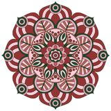 东方模式 传统圆的着色装饰品 坛场 库存图片