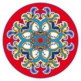 东方玫瑰华饰样式 免版税图库摄影